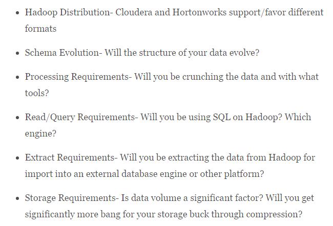 Hadoop File Formats
