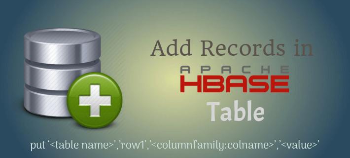 Insert Data in HBase Table