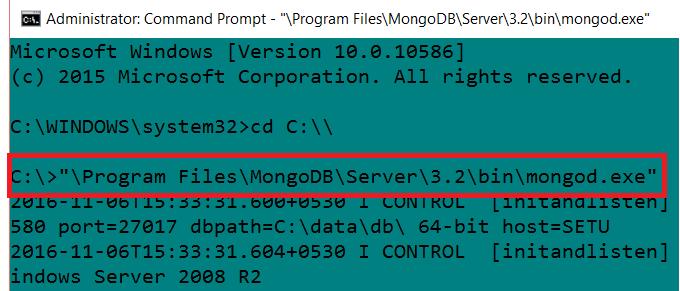 Start MongoDB